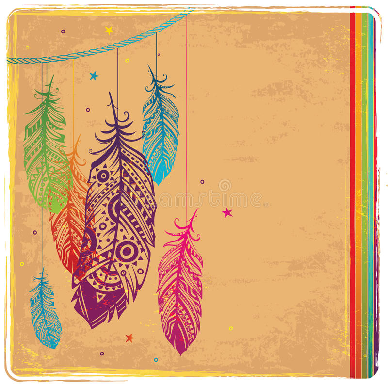 Ethnic Dream catcher royalty free illustration