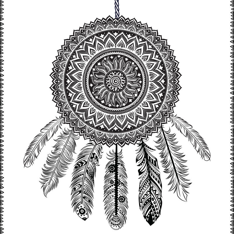 Ethnic Dream catcher royalty free illustration
