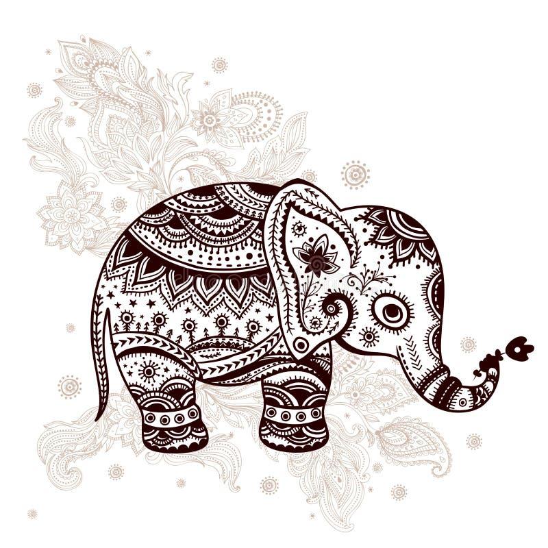 Download Ethnic Elephant Illustration Stock Vector - Image: 34488428