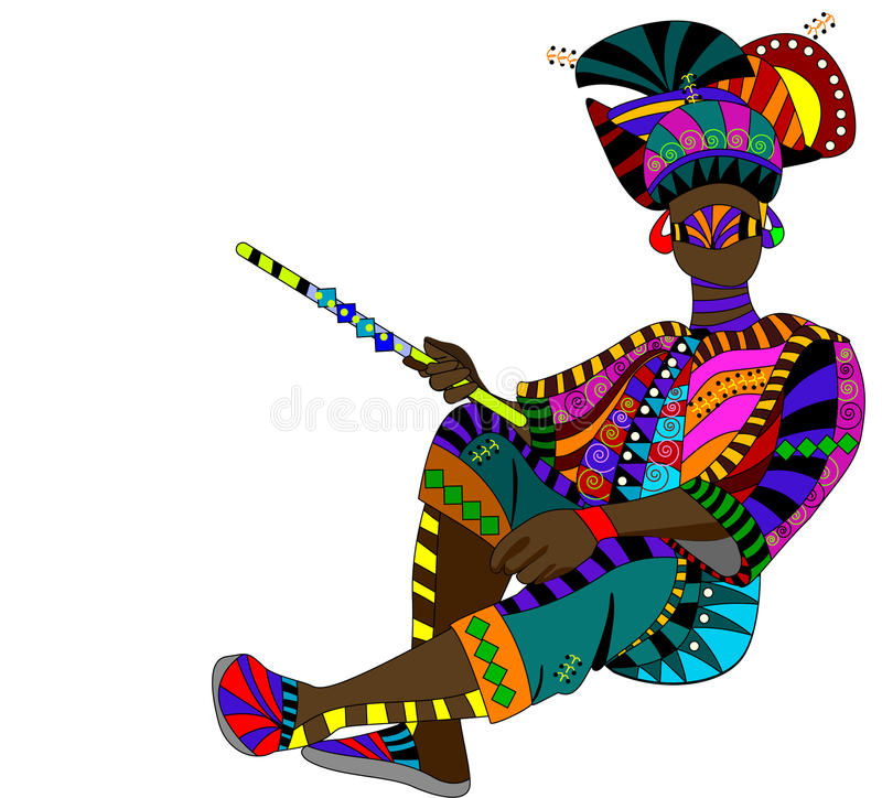 Ethnic fashion stock illustration