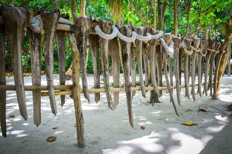 Ethnic fence on the James Bond island, Thailand royalty free stock image