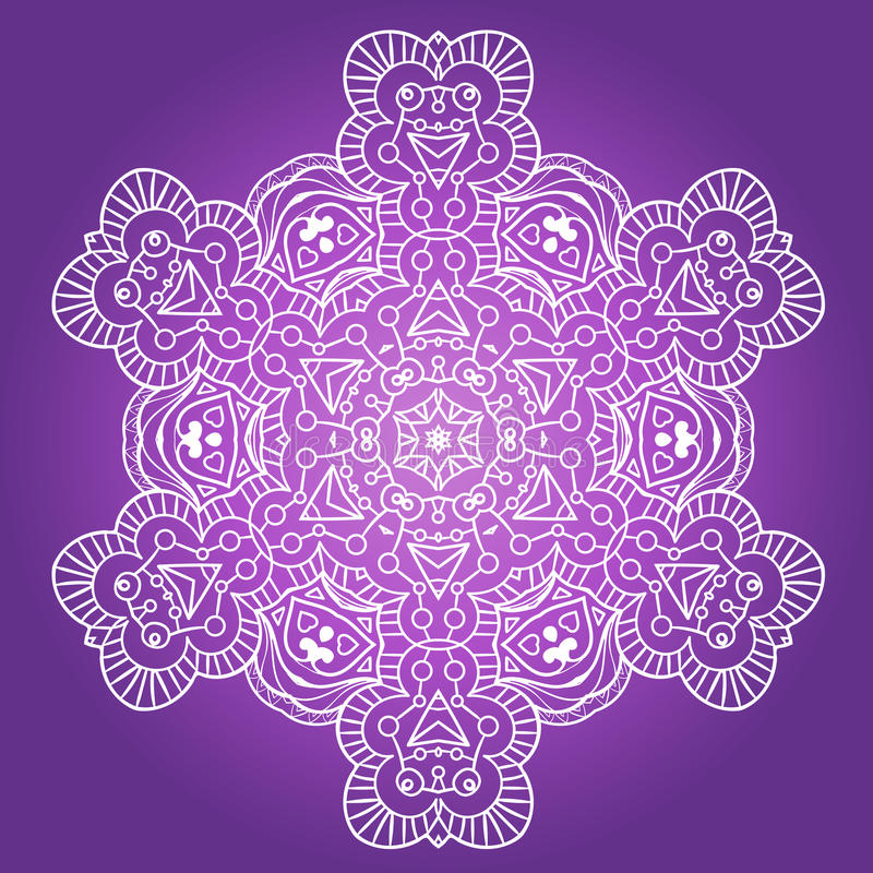 Ethnic Fractal Meditation Mandala Vector. EPS Format EPS royalty free illustration