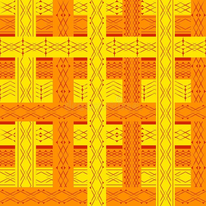 Ethnic geometry seamless pattern. Ethnic orange geometry seamless pattern. Vector illustration vector illustration