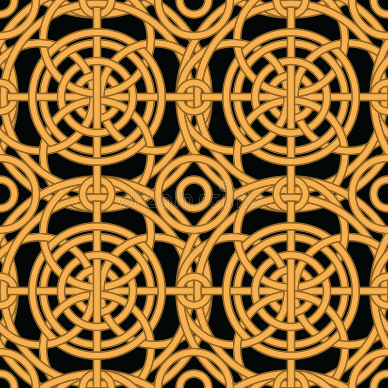 Download Ethnic Gold Interlaced - Seamless Vector Pattern Stock Vector - Illustration of ethnic, classical: 24454605