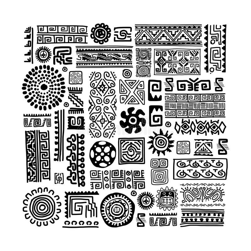 Ethnic handmade ornament for your design royalty free illustration