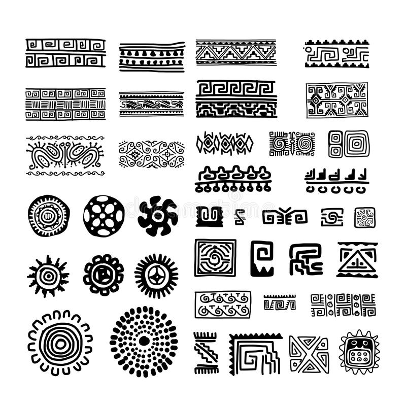 Ethnic handmade ornament for your design stock illustration