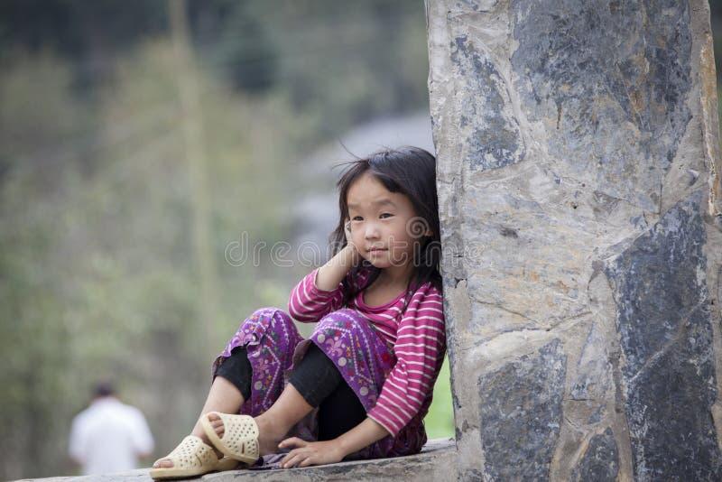 Ethnic Hmong children in Ha Giang, Vietnam royalty free stock photo