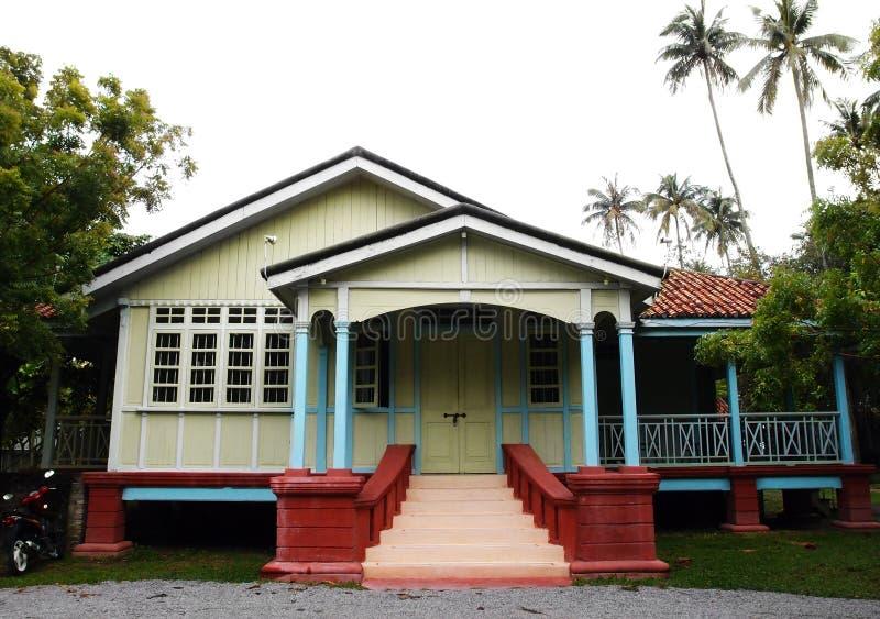 Ethnic house of Malacca, Malaysia stock photos