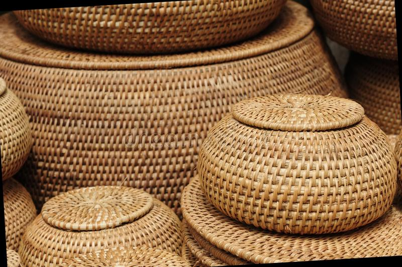 Vietnam baskets royalty free stock images