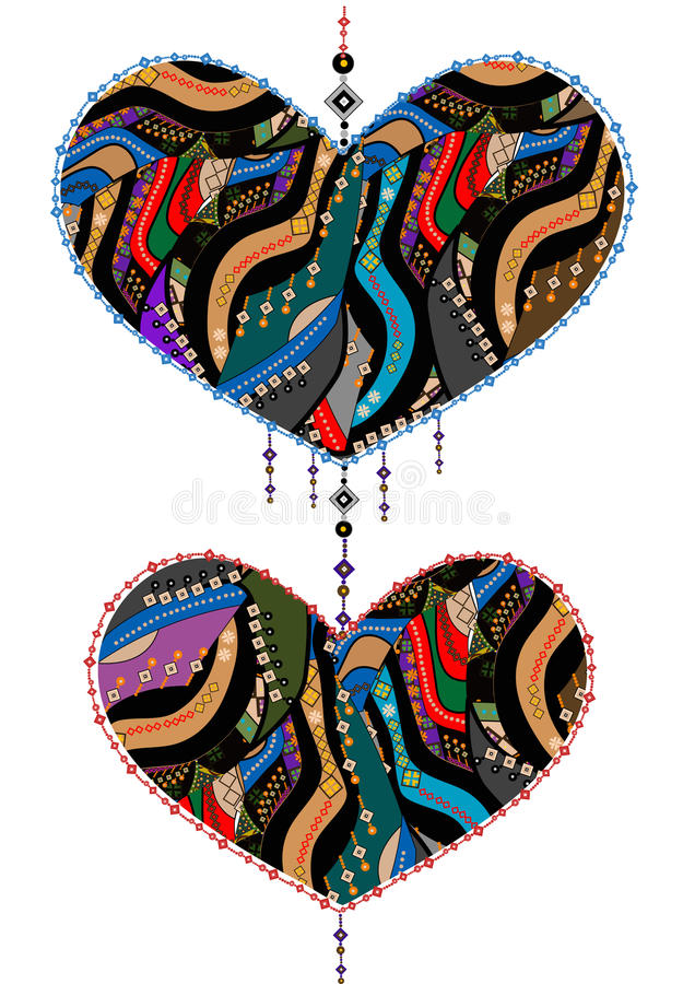 Download Ethnic love stock vector. Image of ethnics, floral, glamour - 16775811