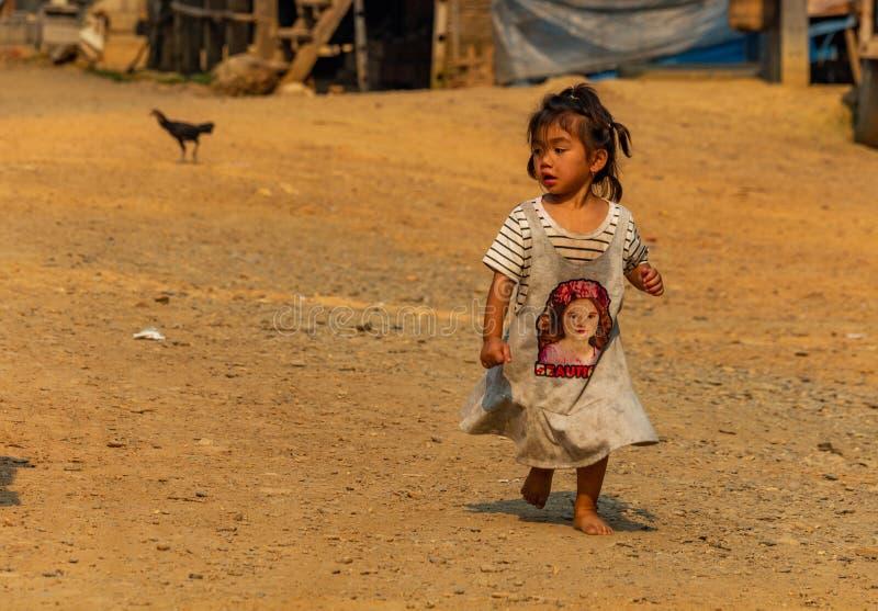 Ethnic minority child in rural Laos royalty free stock photos