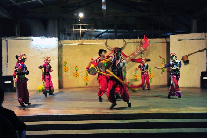 Ethnic minority dancing. Dali, Yunnan , China stock images