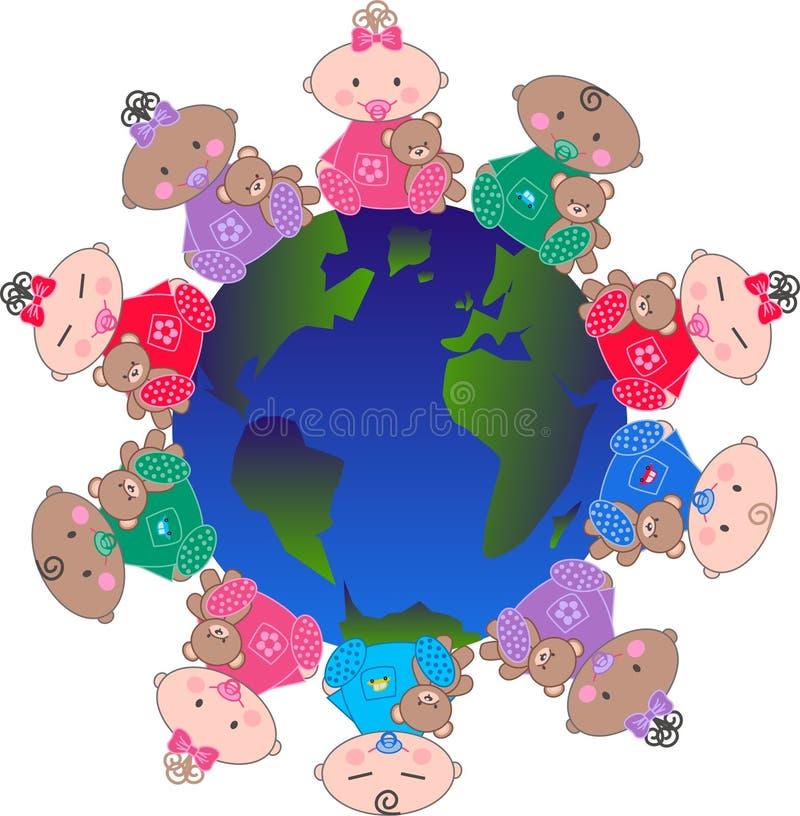 Ethnic mixed babies royalty free stock photos