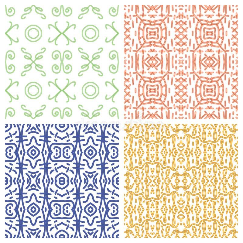 Ethnic monochrome patterns royalty free illustration
