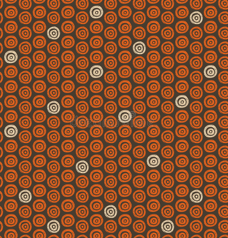 Ethnic natural pattern with circles. Ornamental native background vector illustration