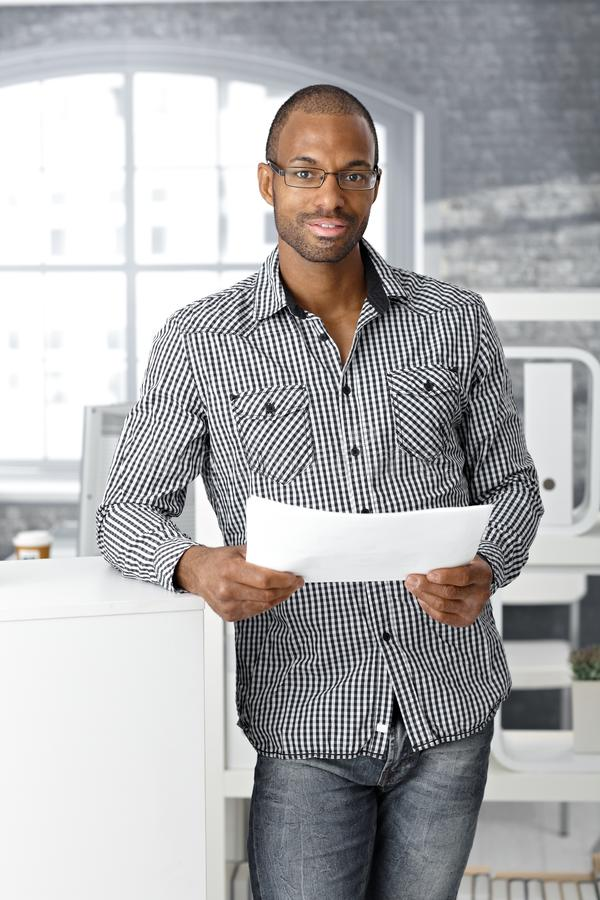 Ethnic Office Worker Smiling Stock Photos