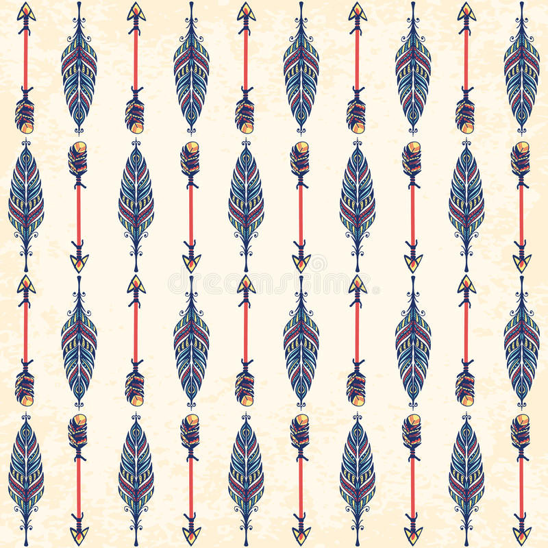 Ethnic ornament. Seamless pattern. Boho style. vector illustration