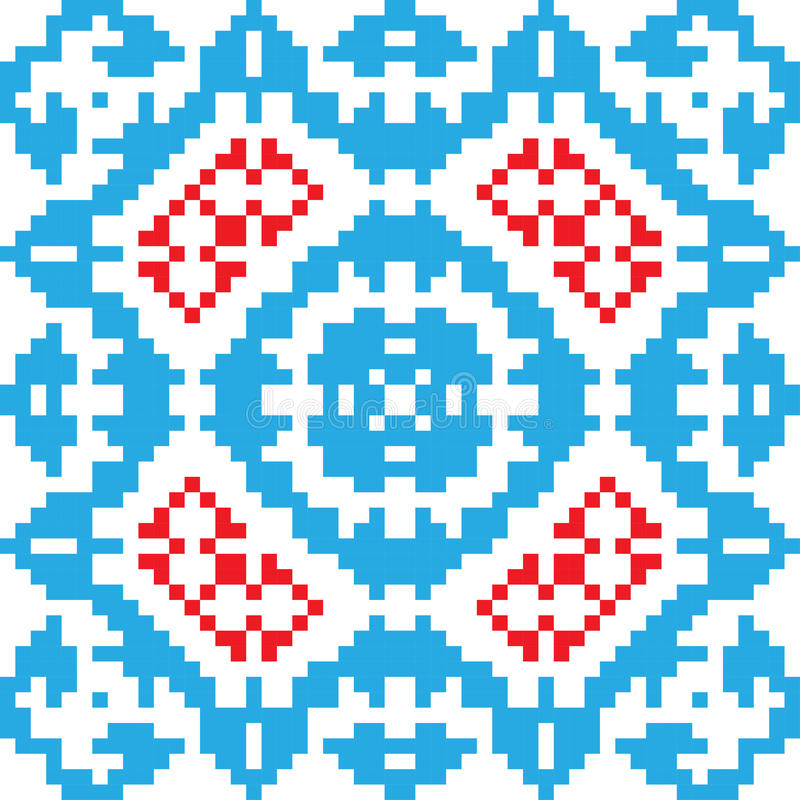 Ethnic ornament, seamless pattern. Vector illustration. From collection of Balto-Slavic ornaments stock illustration