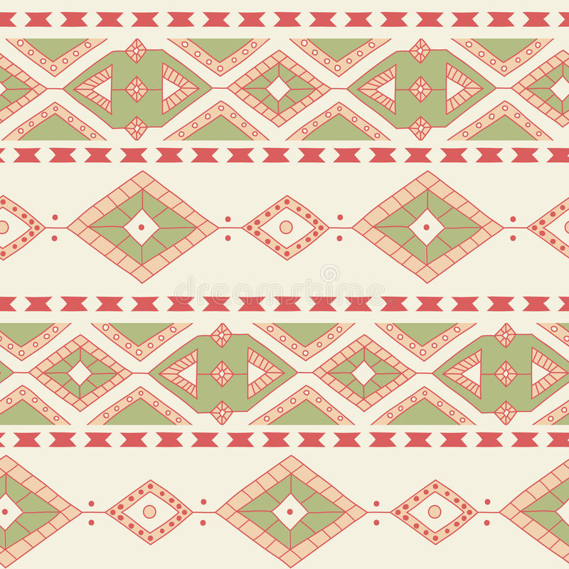 Ethnic ornamental textile seamless pattern stock illustration