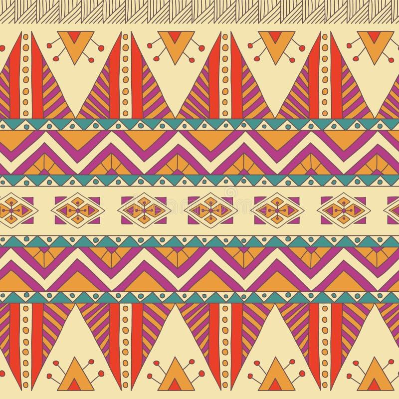 Ethnic ornamental textile seamless pattern royalty free illustration