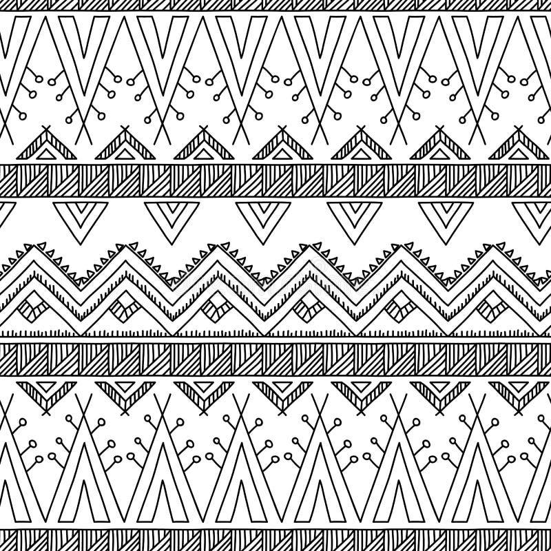 Ethnic ornamental textile seamless pattern vector illustration