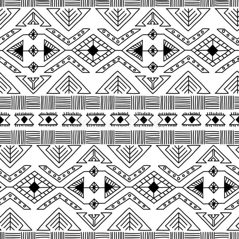 Ethnic ornamental textile seamless pattern stock illustration