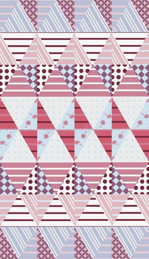 Ethnic patchwork. Seamless quilting design. Vector illustration.  royalty free illustration