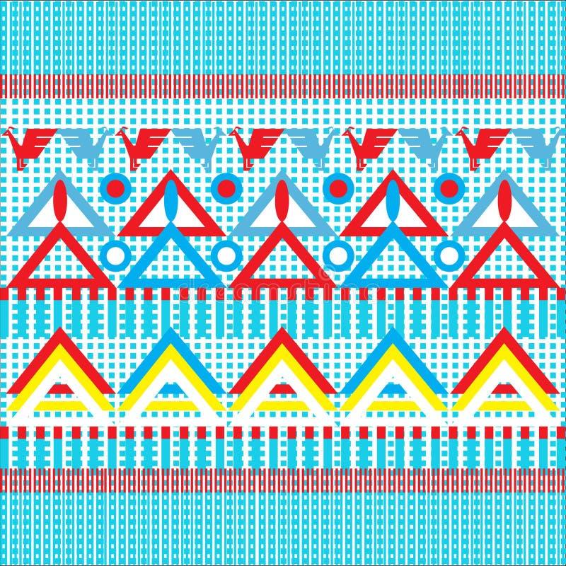 Ethnic pattern royalty free illustration