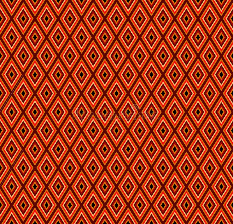 Ethnic patterns in the form of multi-colored rhombus.Vector.Seam vector illustration