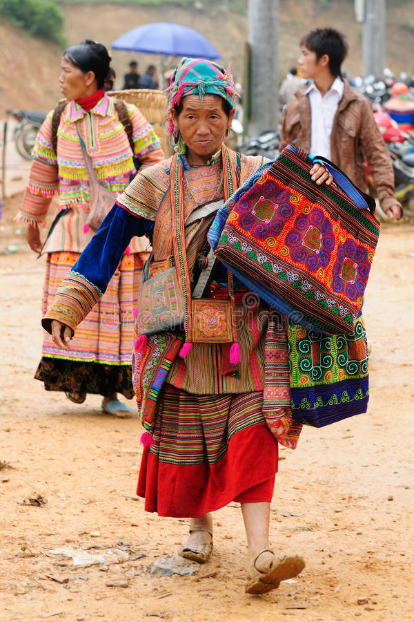 Ethnic people in Vietnam stock image