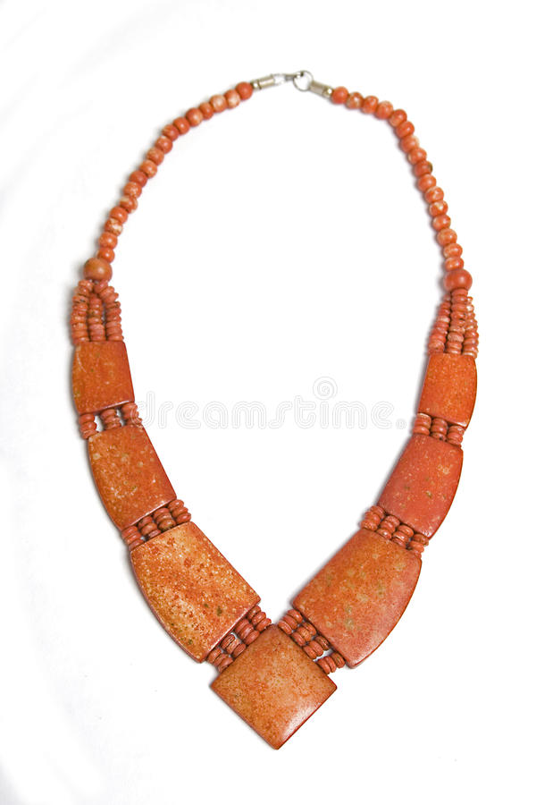 Ethnic red necklace royalty free stock photography