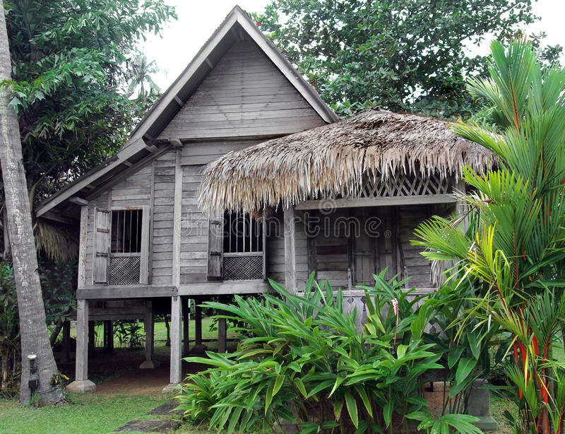 Ethnic rural southeast asian house on stilts stock image for Asian houses photos