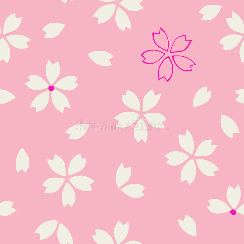 Ethnic sakura pattern stock illustration