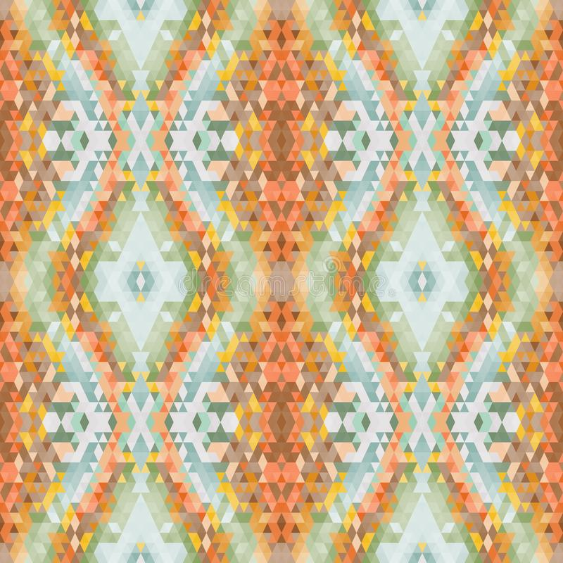 Ethnic seamless abstract vector pattern. Geometric seamless background. Yellow and orange colors, natural brown tone. ethnic orang. Ethnic seamless abstract stock photos