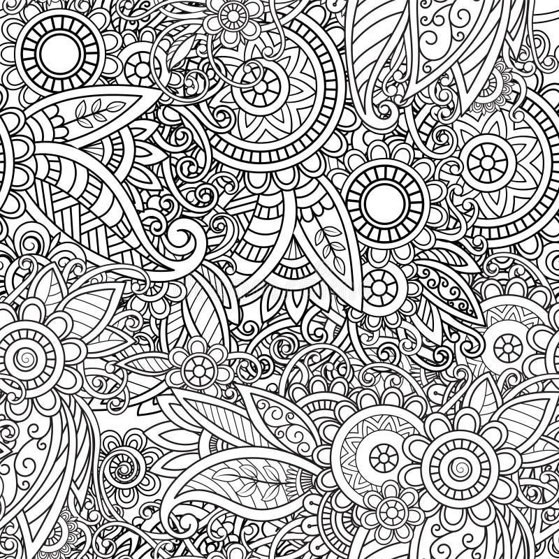 Ethnic seamless pattern stock illustration