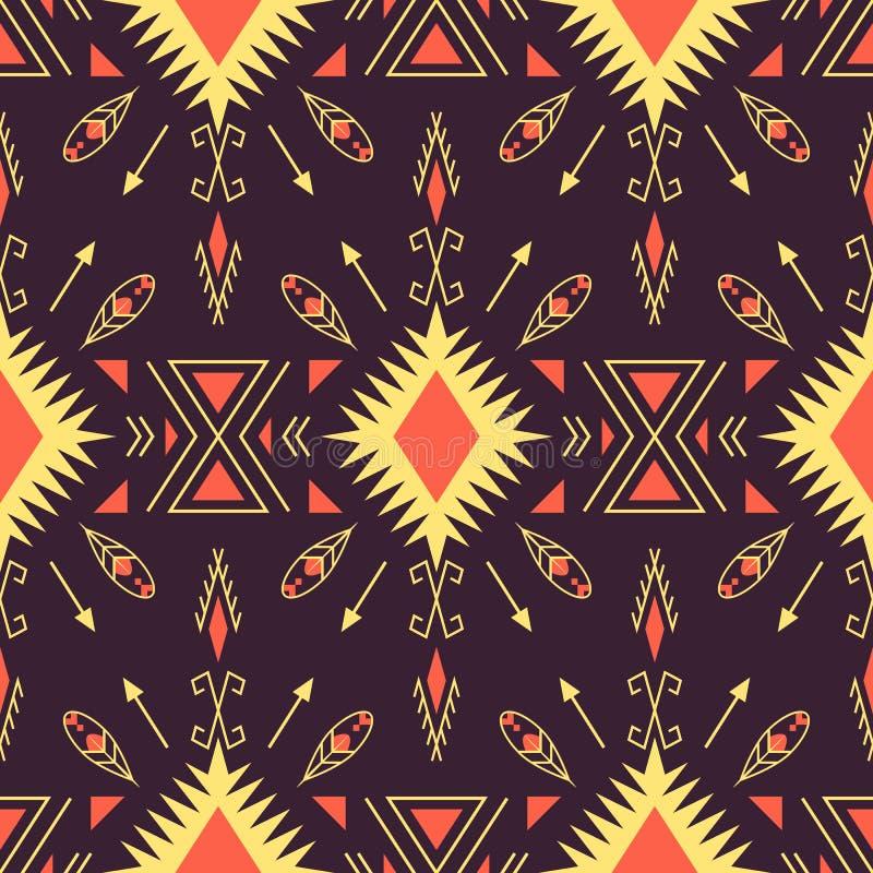 Ethnic seamless pattern. Geometric design stock illustration