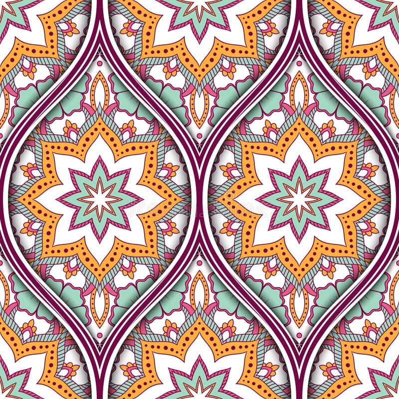 Ethnic seamless pattern stock illustration