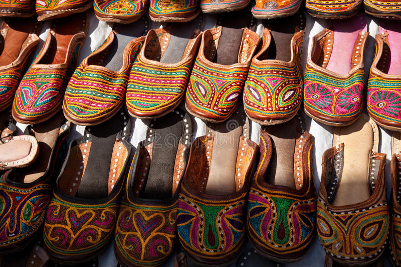 Download Ethnic shoes stock image. Image of flea, green, bazaar - 30471319