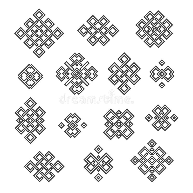 Ethnic Signs And Symbols Stock Vector Illustration Of Collection