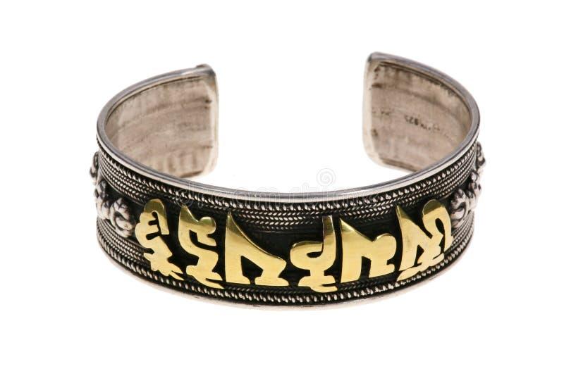 the ethnic silver bracelets stock photography