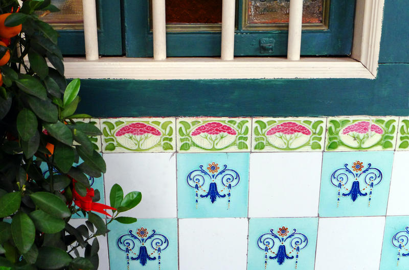 Ethnic southeast asian chinese tile details royalty free stock photos