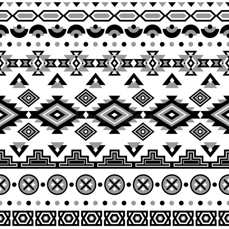 Download Ethnic Striped Seamless Pattern Stock Vector