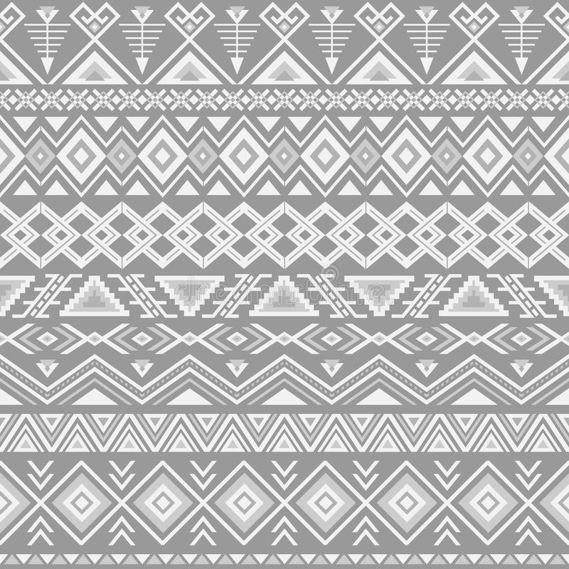 Ethnic striped seamless pattern. Ethnic seamless pattern. Aztec gray background. Tribal ethnic navajo print. Modern abstract wallpaper. Vector illustration royalty free illustration