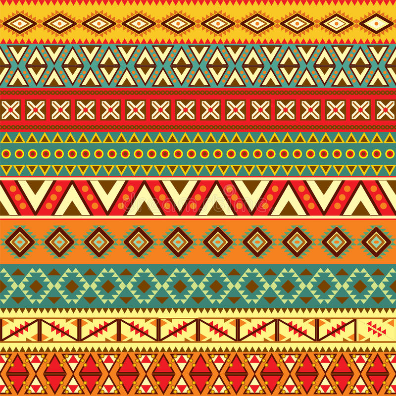 Ethnic strips motifs vector illustration