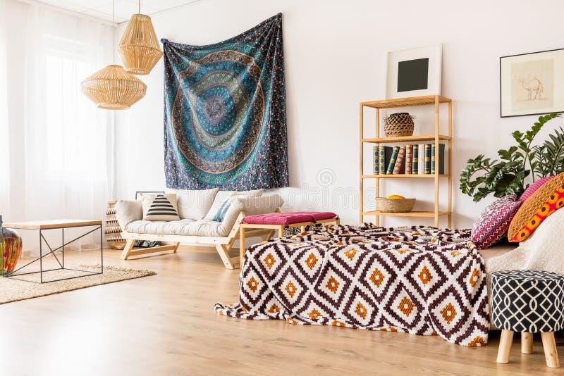 Ethnic studio interior stock photos