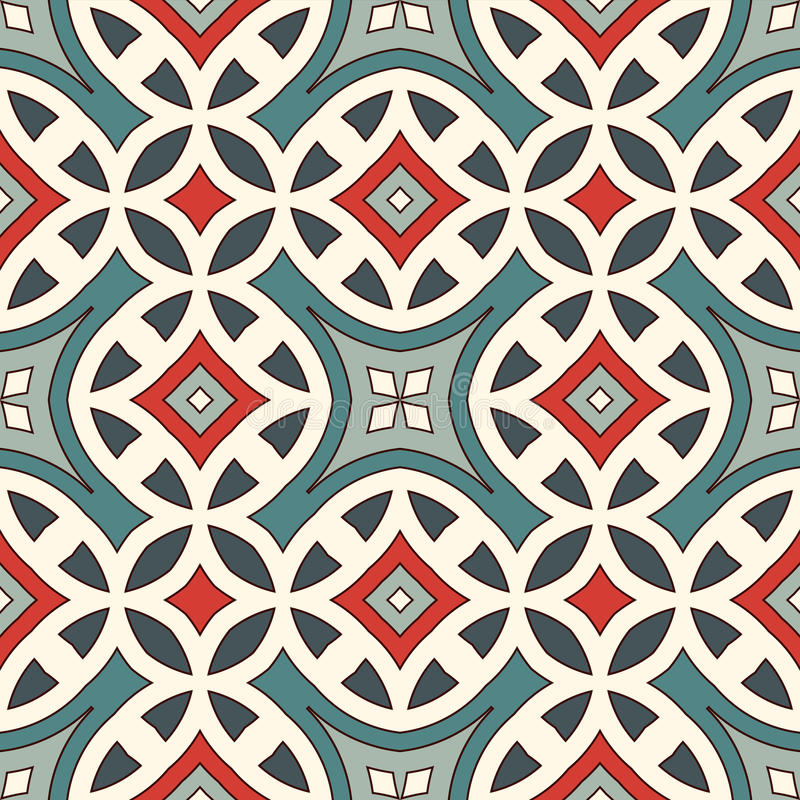 Ethnic style seamless pattern. Native americans abstract background. Tribal motif. Boho chic digital paper vector illustration