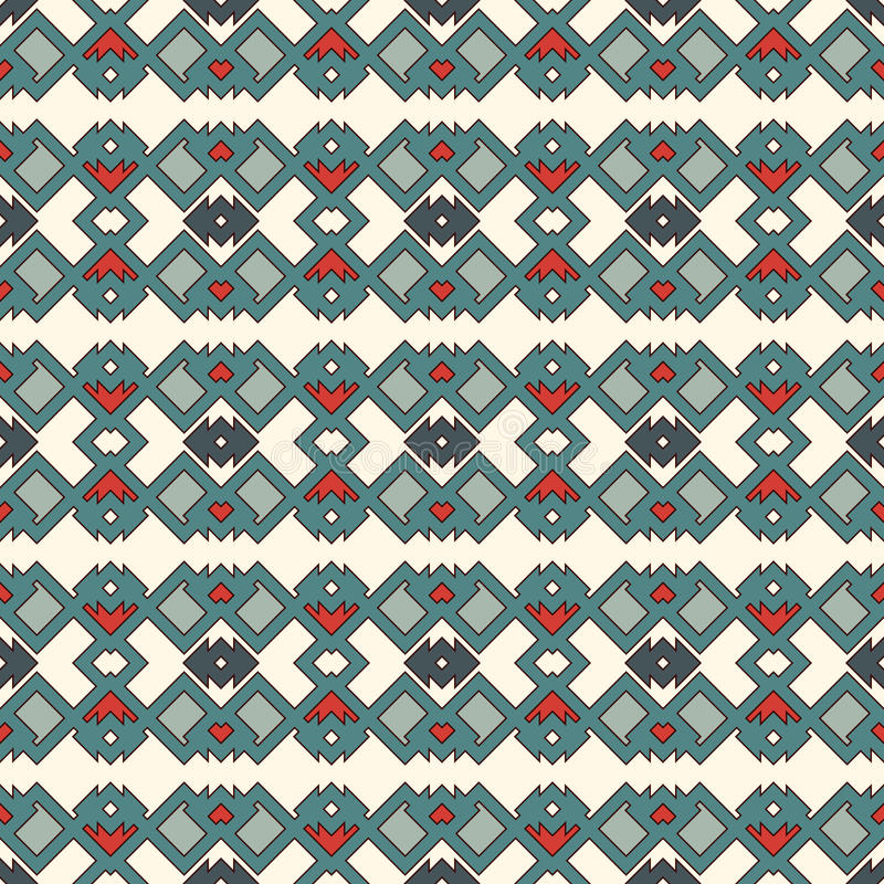 Ethnic style seamless pattern. Native americans abstract background. Tribal motif. Boho chic digital paper stock illustration