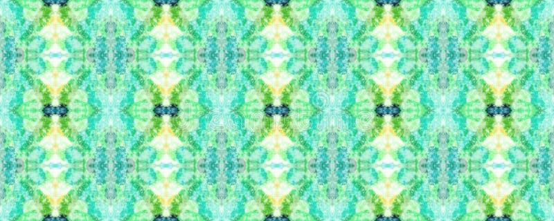 African Seamless Pattern. Ethnic Symmetric Triangles Rapport. Summer Safari Background.  Watercolor Horizontal Vibrant Design. Africa Geometric Swimwear Pattern vector illustration