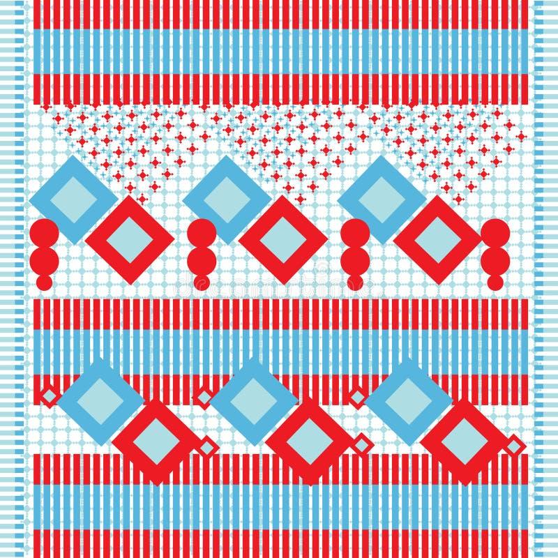 Ethnic textile background stock illustration