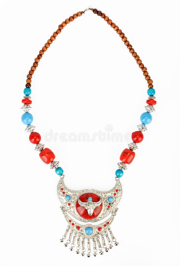 Download Ethnic Tibetan Necklace With Yak Symbol Stock Photo - Image: 14832450